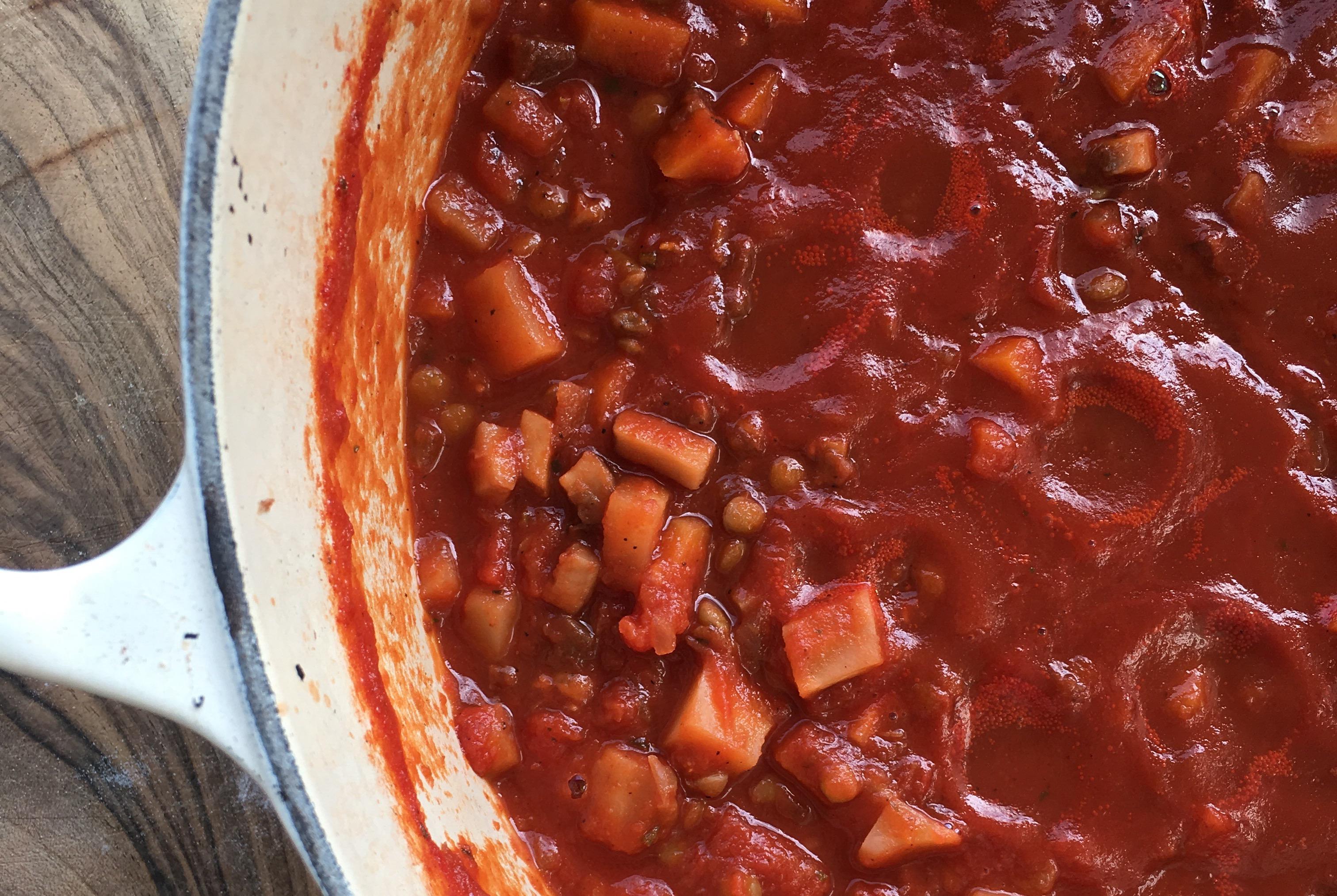 Bolognese-Sauce ohne Fleisch