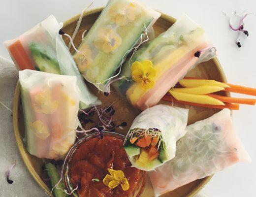 Rezept für Summer Rolls mit Erdnuss-Dip