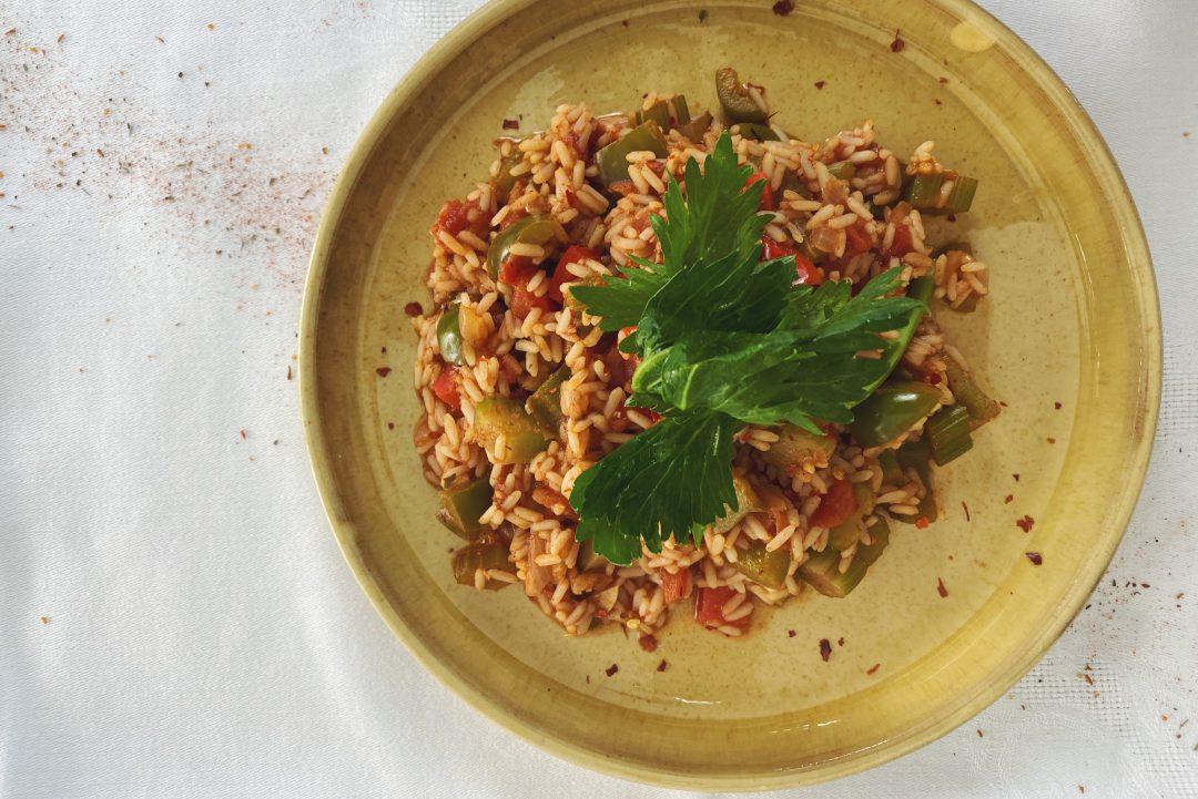 Jambalaya aus New Orleans nur ohne Fleisch