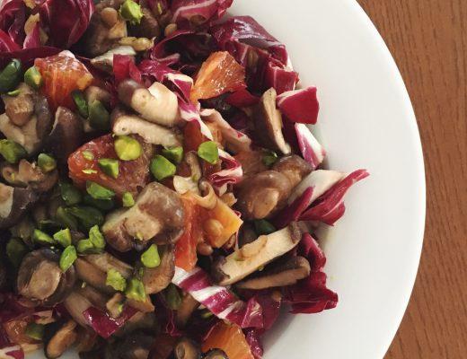 Wintersalat: Cicorino rosso mit Linsen und Blutorangen-Vinagrette