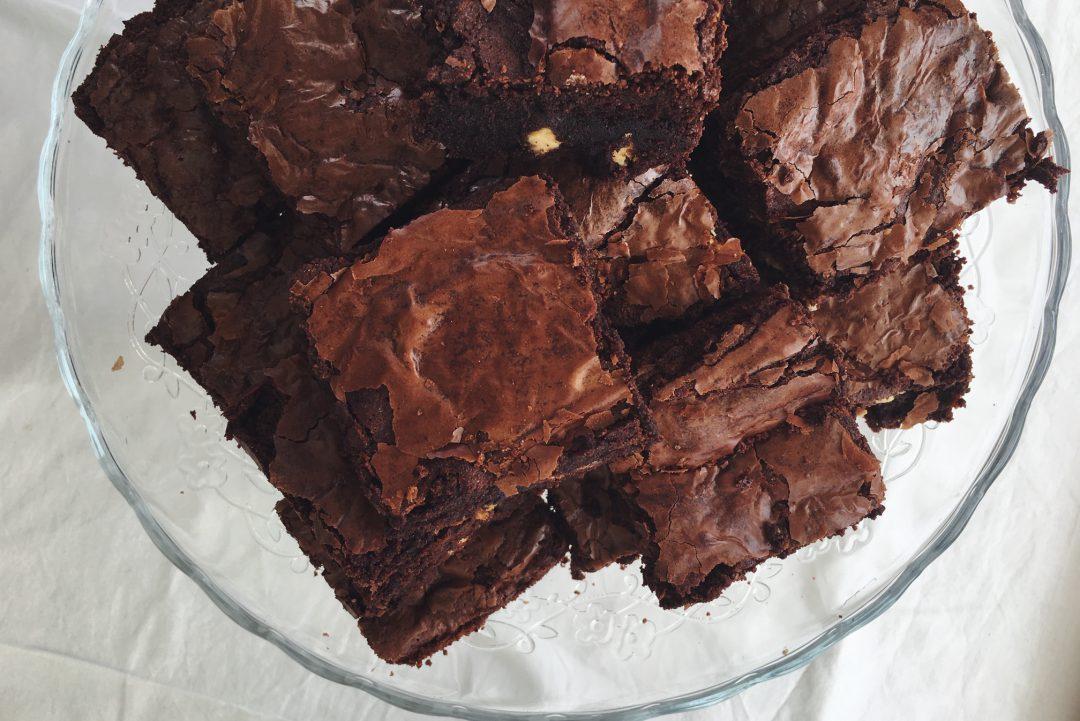 Brownies mit weisser Schokolade
