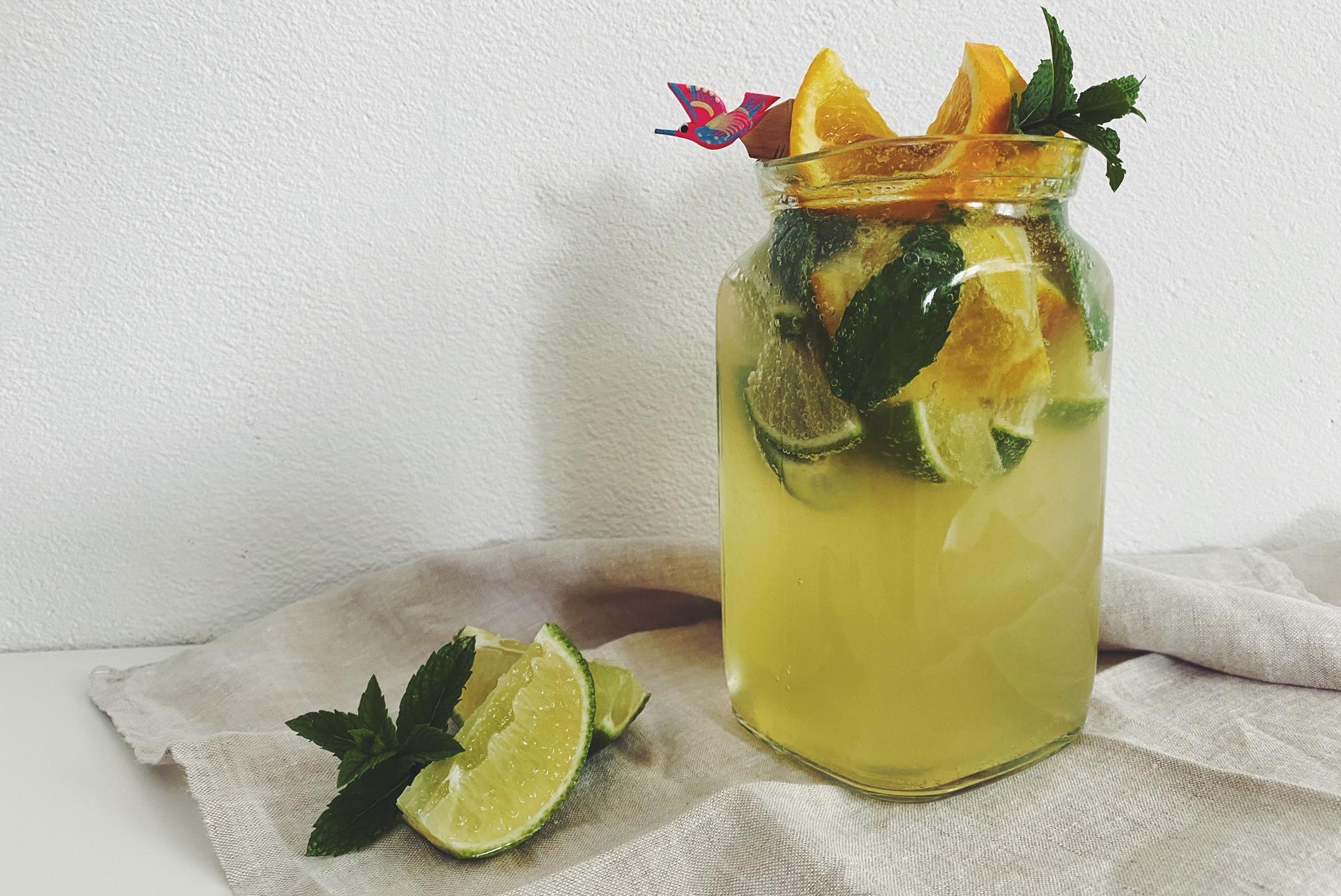 Schnelle ungarische Limonade mit Zitrusfrüchten