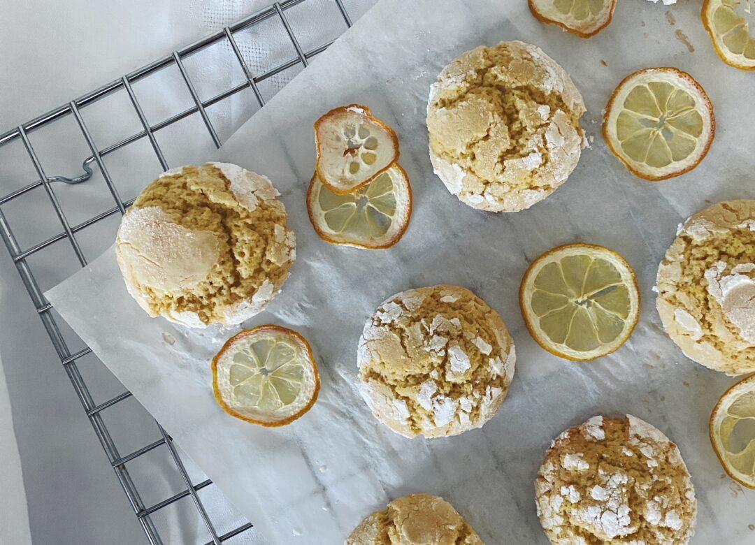 Lemon Crinkle Cookies: herrliche Zitronen-Kekse